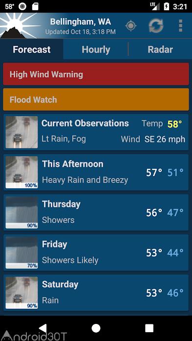 دانلود NOAA Weather Unofficial 2.9.1 – برنامه پیش بینی وضعیت آب و هوا اندروید