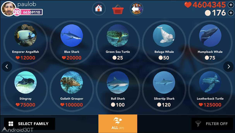 دانلود 1.0.5 Ocean Reef Life – بازی استراتژی زندگی در اقیانوس اندروید