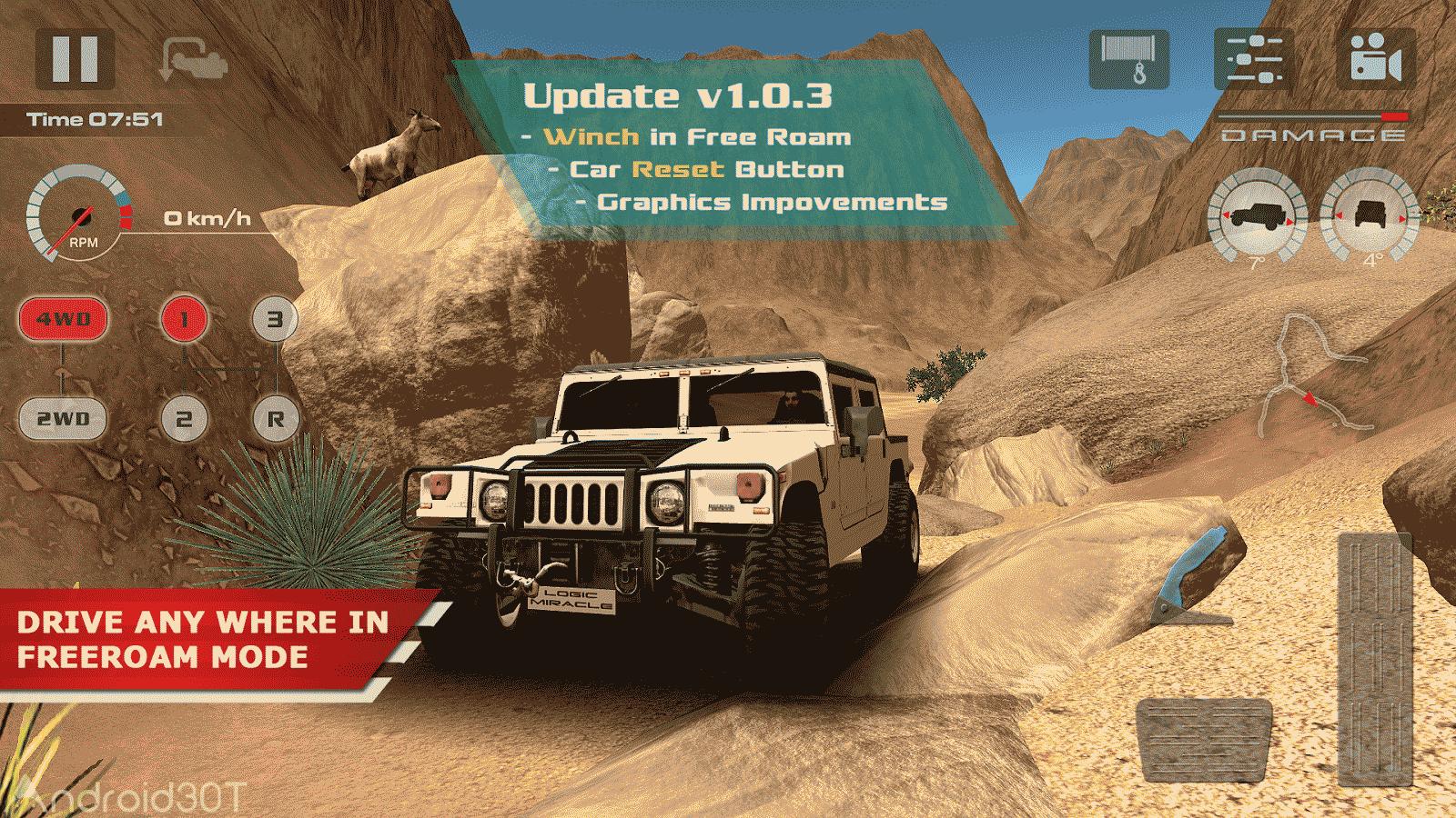OffRoad Drive Desert 1.0.6 – بازی رانندگی آفرود در کویر اندروید