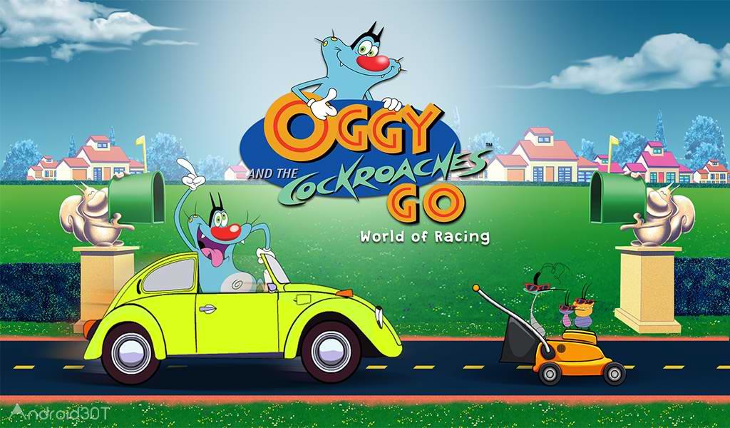 دانلود Oggy Go – World of Racing 1.0.33 – بازی رانندگی اوگی اندروید