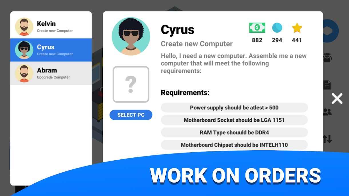 دانلود PC Creator – PC Building Simulator 4.3.11 – بازی شبیه ساز ساخت پی سی اندروید