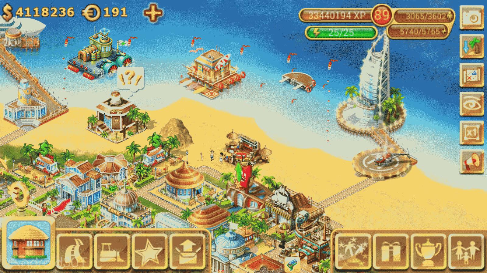 دانلود Paradise Island 4.0.8 – بازی جزیره بهشتی اندروید