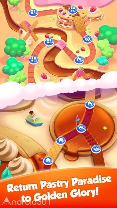 دانلود Pastry Paradise 1.2.0ad – بازی پازلی بهشت شیرینی اندروید