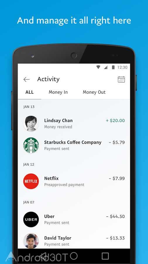 دانلود PayPal 7.42.1 – اپلیکیشن رسمی پی پال اندروید