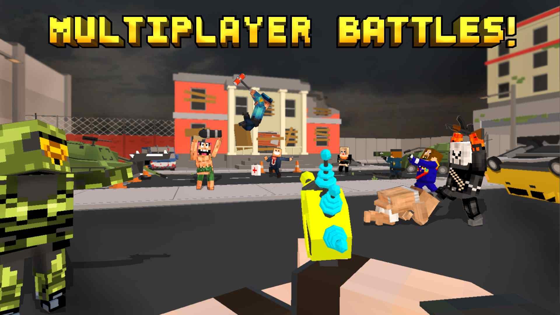 دانلود 7.7 Pixel Fury: Multiplayer in 3D – بازی اکشن جنگ پیکسلی اندروید