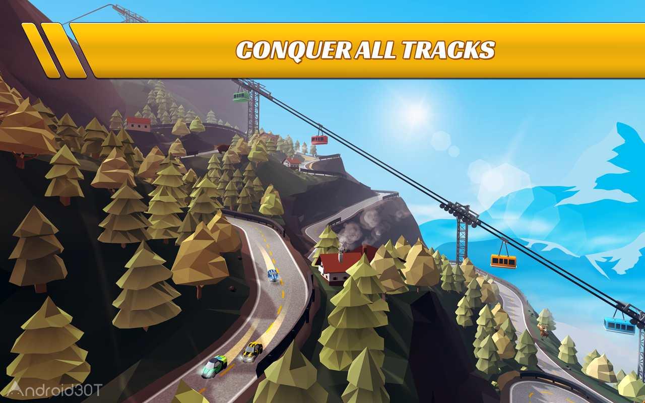 دانلود Pocket Rush 1.8.0 – بازی مسابقه ای یورش اتومبیل ها اندروید