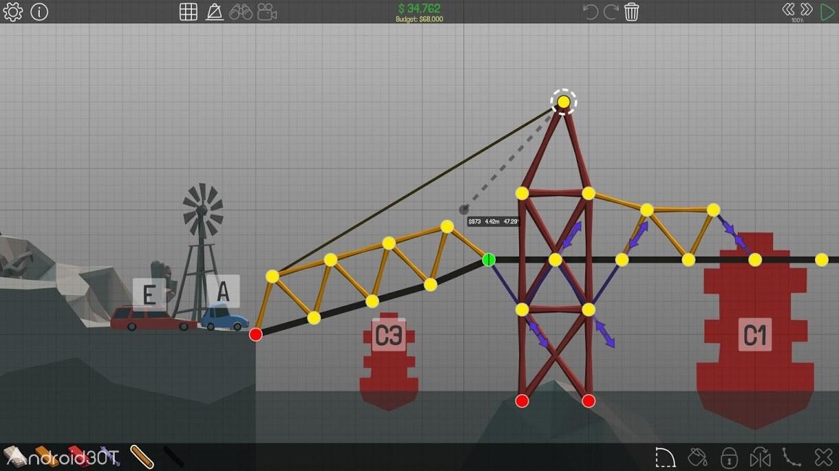 دانلود Poly Bridge 1.2.2 – بازی فکری ساخت و ساز پل برای اندروید