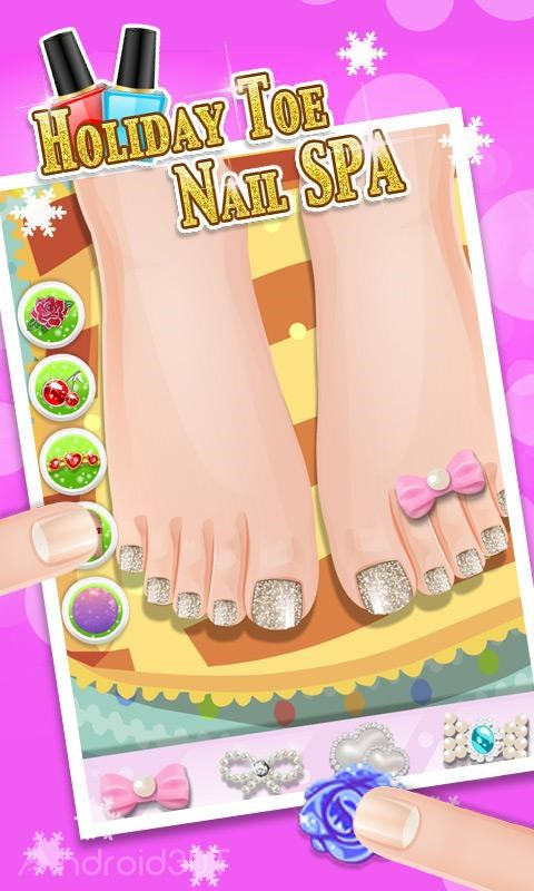 Holiday Toe Nails SPA