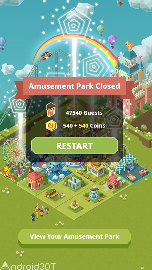 دانلود 2048Tycoon: RollerCoaster Mania 1.2.3 – بازی ساخت شهربازی اندروید