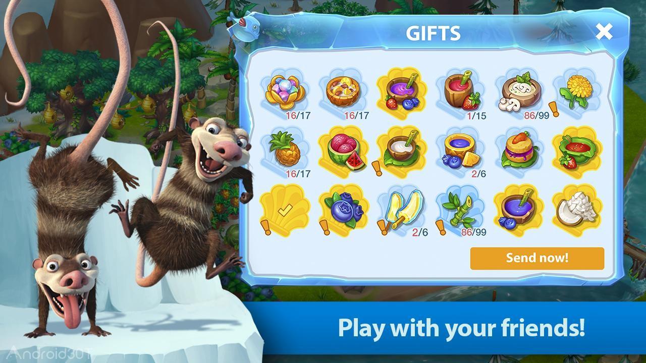 دانلود Ice Age World 1.16 – بازی سرگرم کننده ی عصر یخبندان اندروید