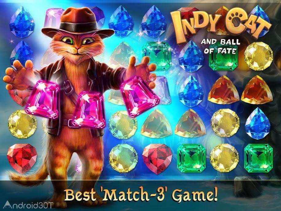 دانلود Indy Cat Match 3 v1.84 – بازی پازلی فوق العاده اندروید