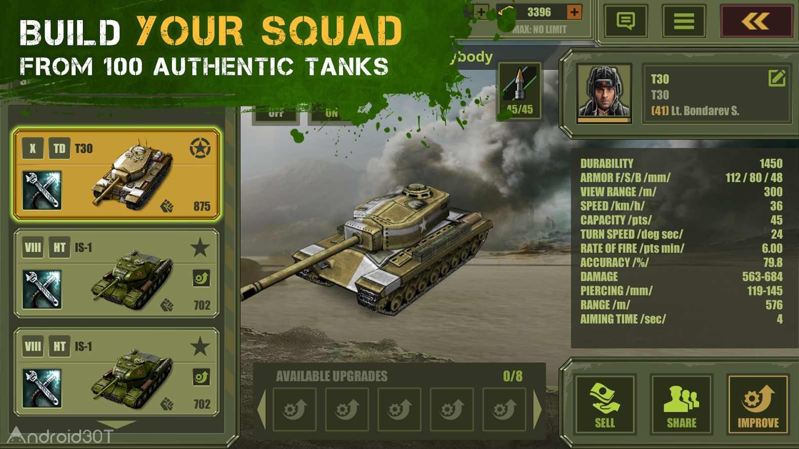 دانلود Iron 5:Tanks 2.54 – بازی آنلاین تانکهای آهنین ۵ اندروید