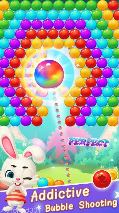 دانلود Rabbit Pop- Bubble Mania 3.0.3 – بازی شلیک حباب اندروید