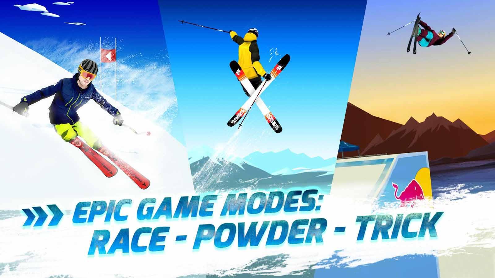 دانلود Red Bull Free Skiing 1.1 – بازی جذاب اسکی روی یخ اندروید