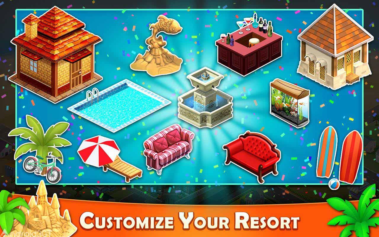 دانلود Resort Tycoon : Hotel Paradise Story 9.1 – بازی پرطرفدار سرمایه دار بزرگ اندروید