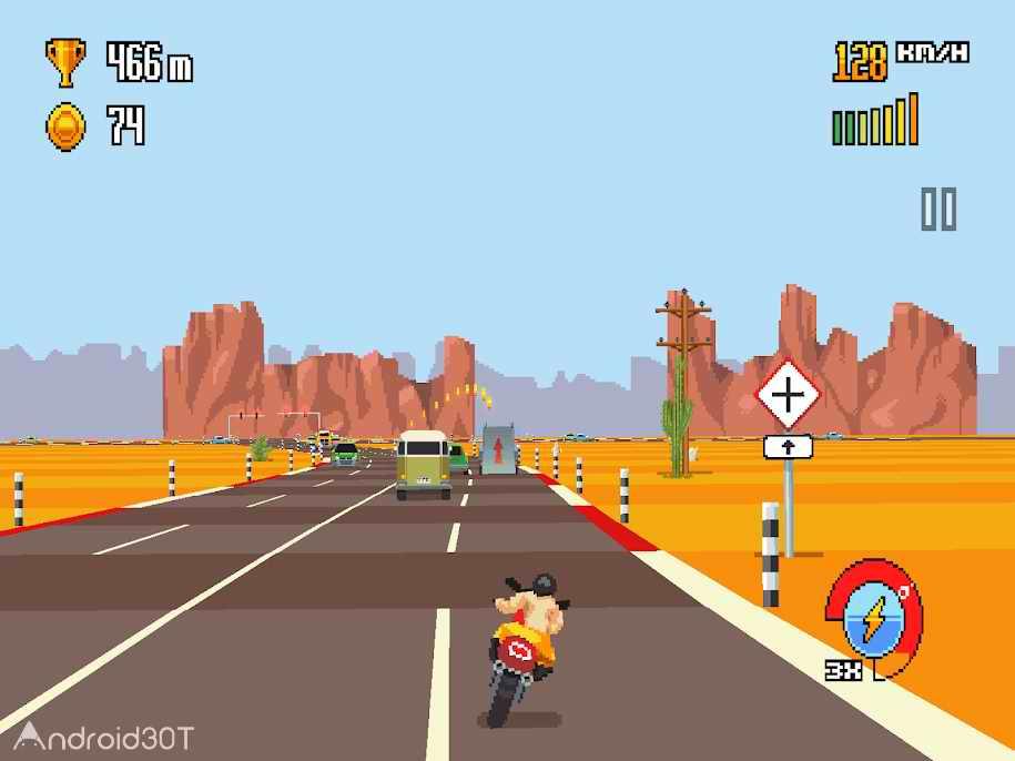 دانلود Retro Highway 1.0.40 – بازی نوستالوژیک موتور سواری برای اندروید