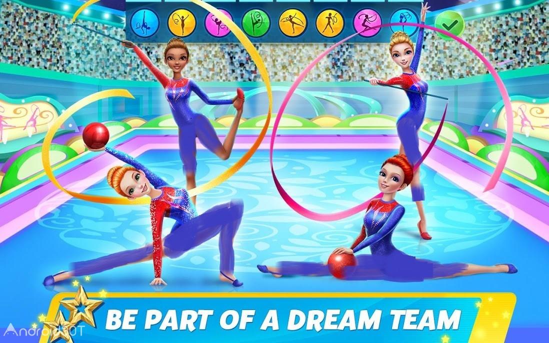 دانلود Rhythmic Gymnastics Dream Team: Girls Dance 1.0.0 – بازی دخترانه جدید اندروید