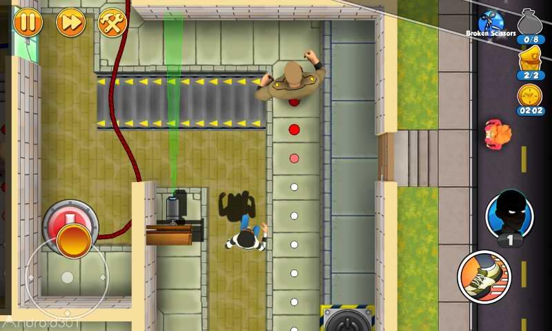 دانلود Robbery Bob 2: Double Trouble 1.6.8.11 – بازی سرگرم کننده سرقت باب ۲ اندروید