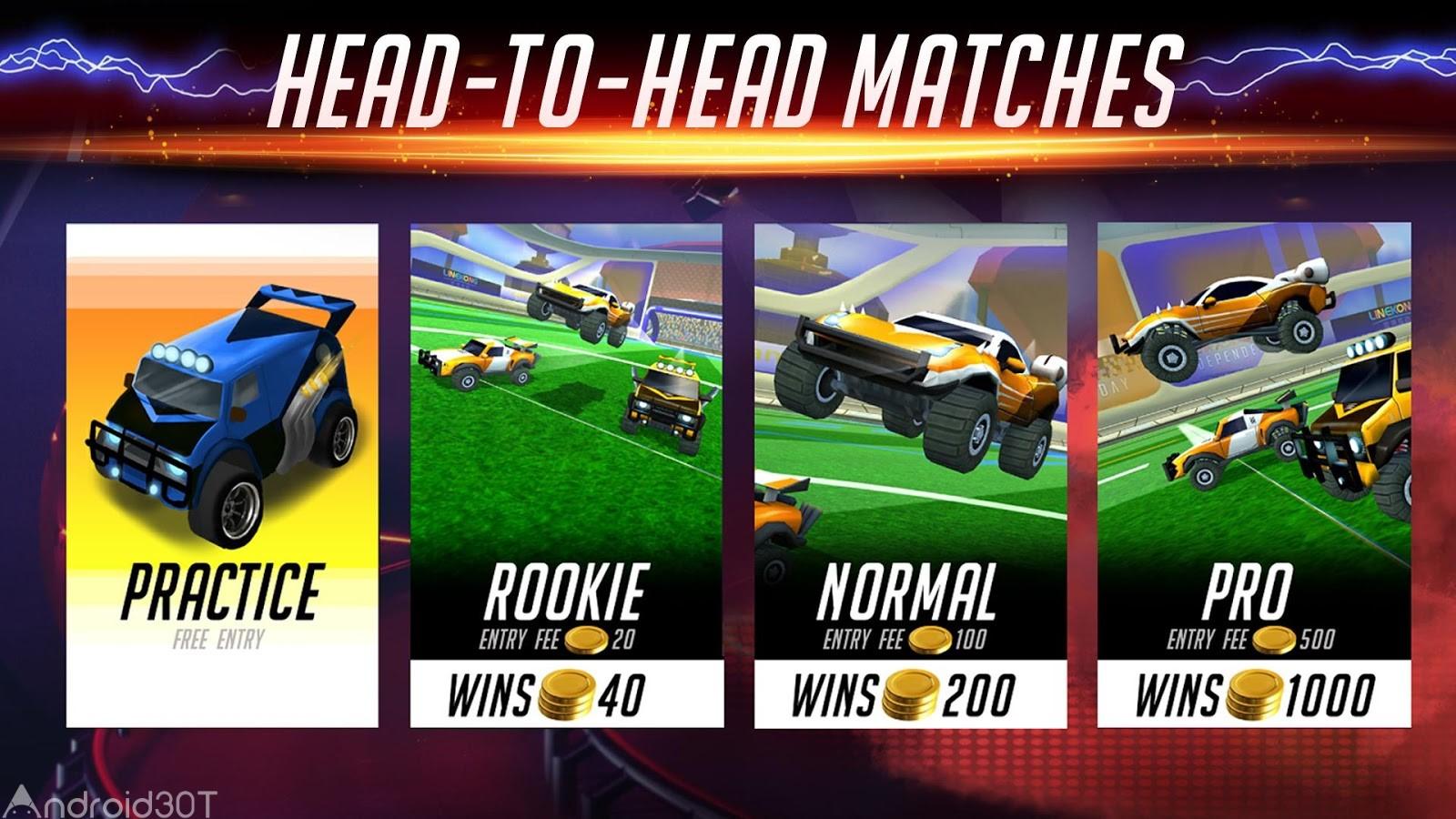 دانلود Rocketball: Championship Cup 1.1.1 – بازی جذاب فوتبال بازی کردن ماشین ها اندروید