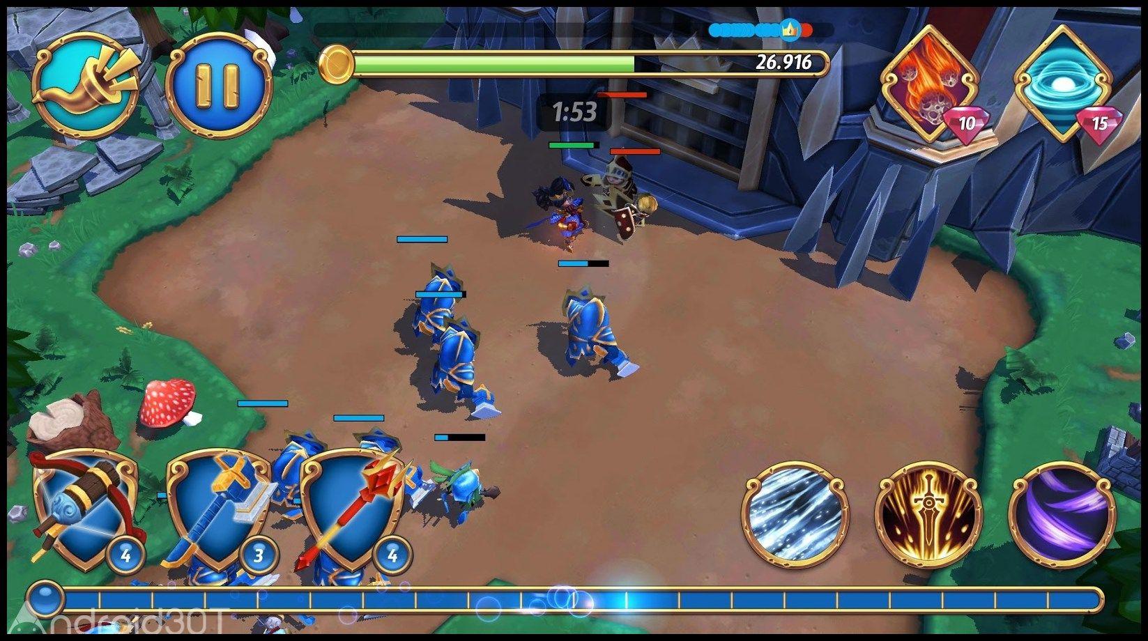 دانلود Royal Revolt 2 v7.1.2 – بازی استراتژیک شورش پادشاهی 2 اندروید
