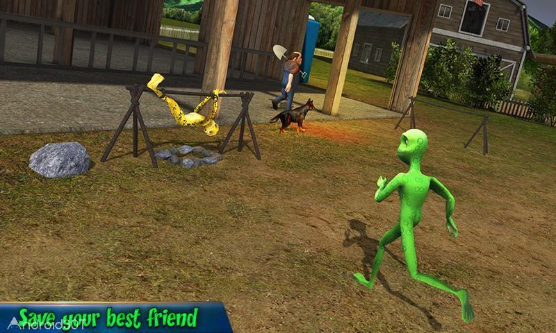 دانلود Scary Green Grandpa Alien 1.3 – بازی بیگانه سبز ترسناک اندروید