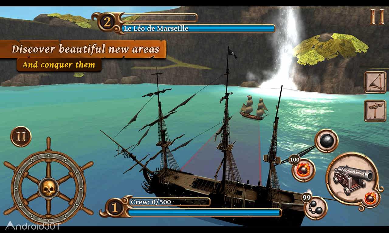 دانلود Ships of Battle Age of Pirates 2.6.28 – بازی کشتی های دزدان دریایی اندروید