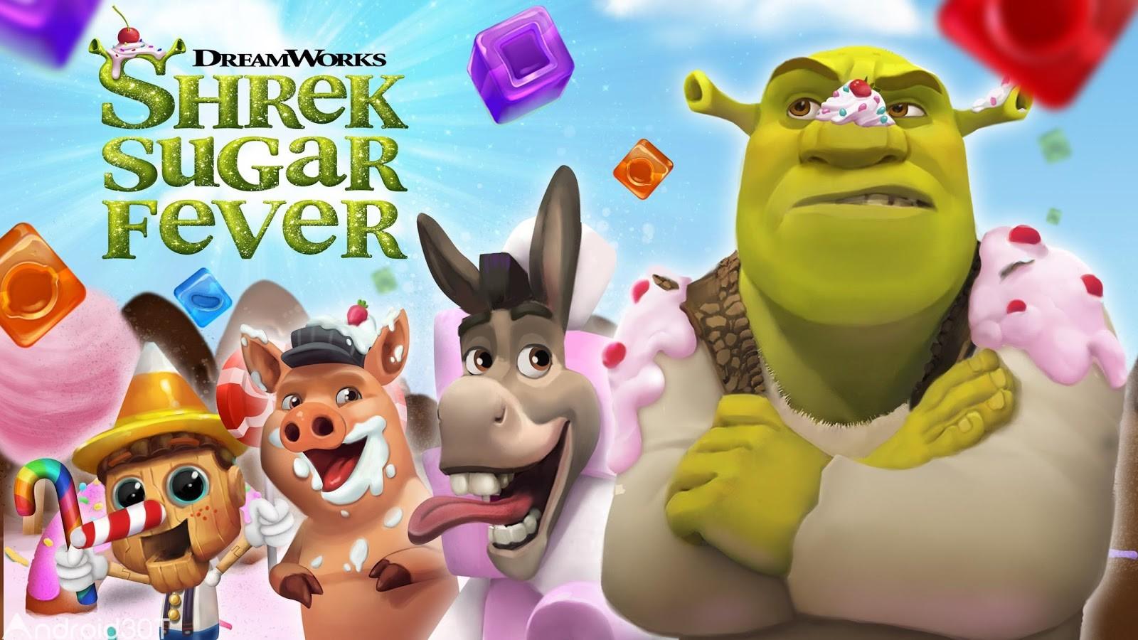 دانلود Shrek Sugar Fever 1.17 – بازی پازلی شرک اندروید