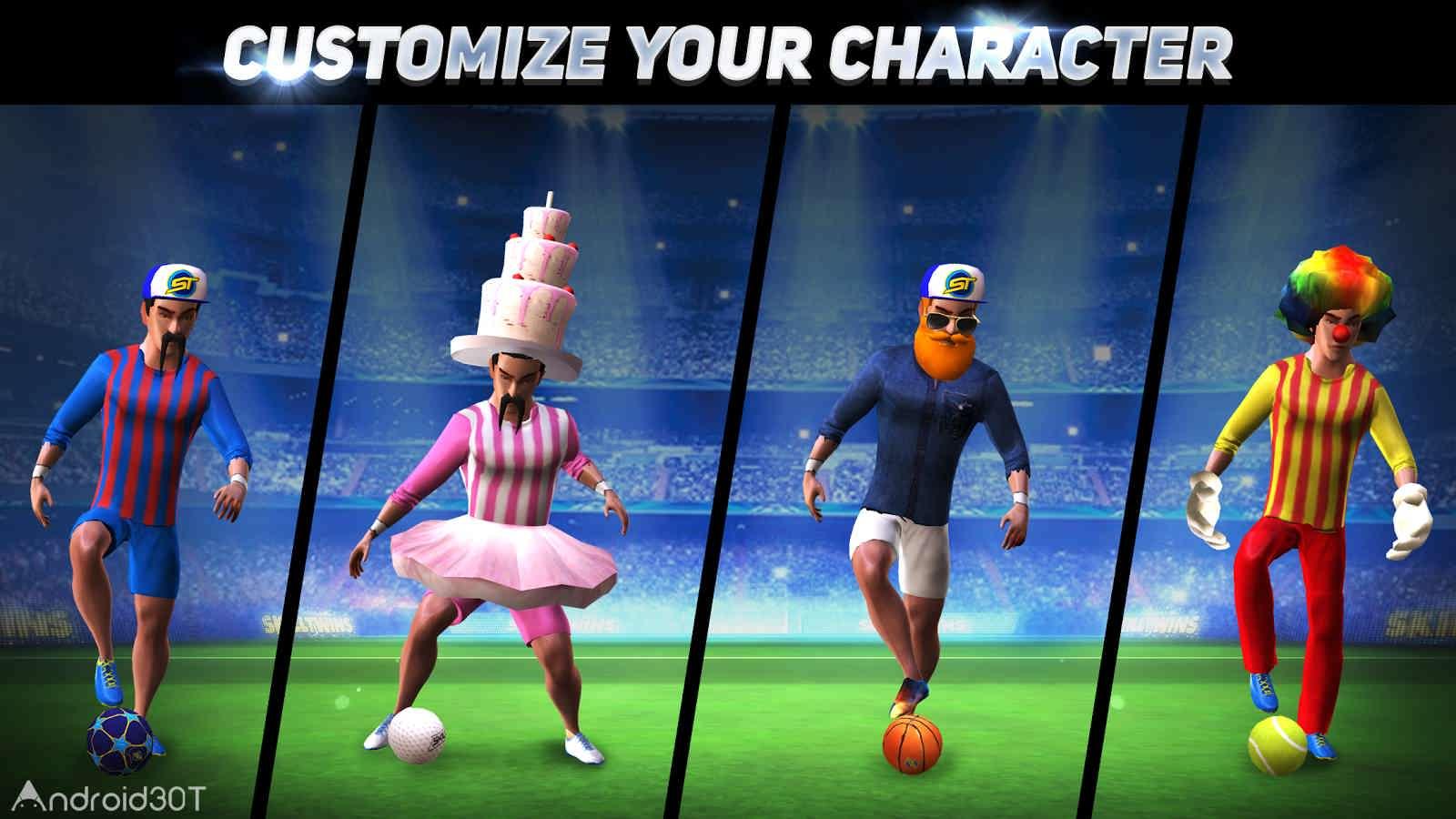 دانلود SkillTwins Football Game 2 v1.3 – بازی پرطرفدار فوتبال دوقلوهای ماهر ۲ اندروید