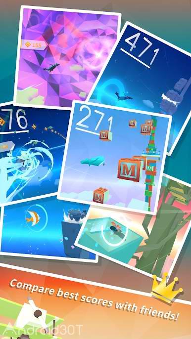 دانلود Sky Surfing 1.1.3 – بازی سرگرم کننده پرواز در آسمان اندروید