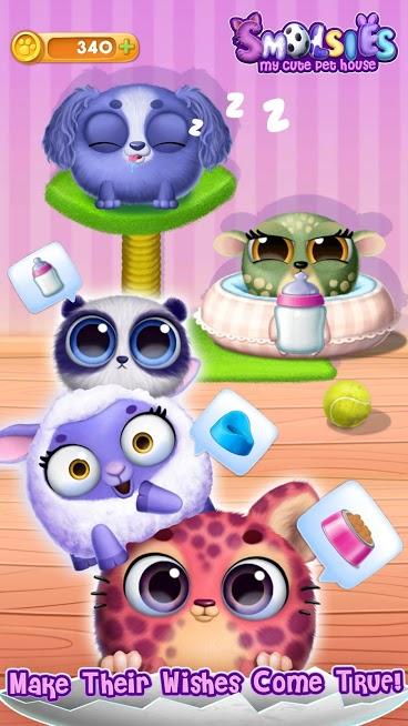 دانلود Smolsies – My Cute Pet House v5.0.229 – بازی حیوان خانگی مجازی من اندروید