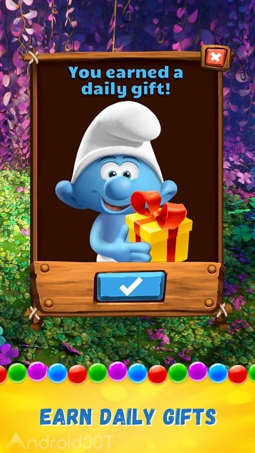 دانلود Smurfs Bubble Story 3.04.050001 – بازی حباب های رنگی اسمورف ها اندروید