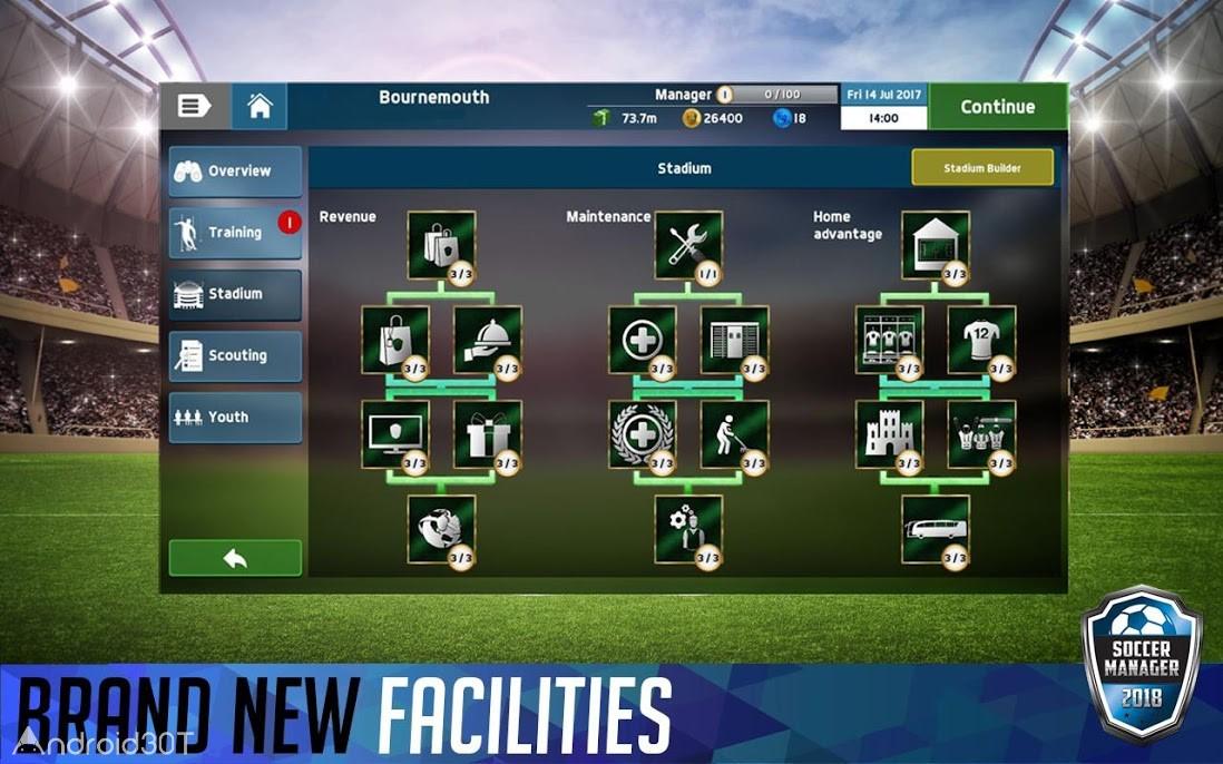 دانلود Soccer Manager 2018 v1.5.7 – بازی مدیریت فوتبال 2018 اندروید