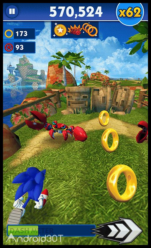 دانلود Sonic Dash Go 4.8.1 – بازی سونیک برای اندروید