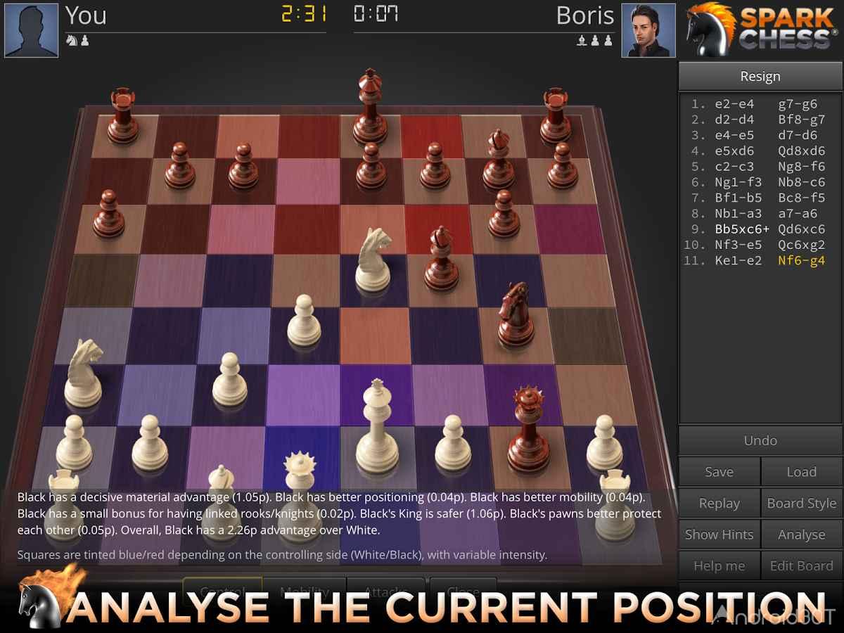 دانلود SparkChess HD 11.0.3 – بازی شطرنج حرفه ای برای اندروید