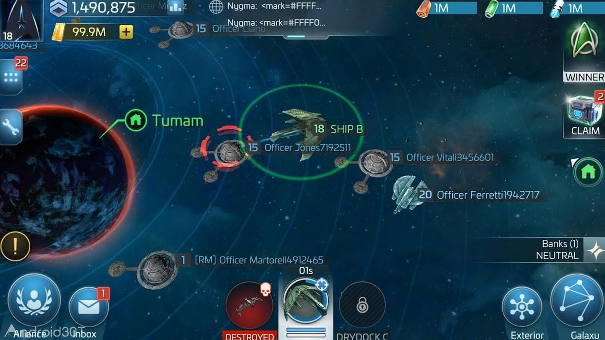 دانلود ۰٫۶۹۳٫۰۶۵۴۷ Star Trek Fleet Command – بازی فرماندهی ناوگان ستارگان اندروید