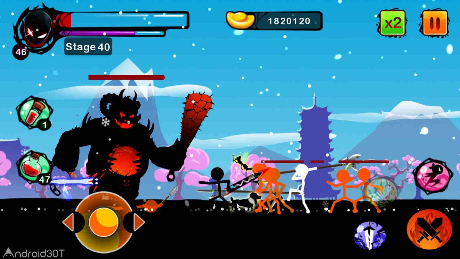 دانلود Stickman Ghost: Ninja Warrior 3.1 – بازی اکشن نینجای مبارز اندروید