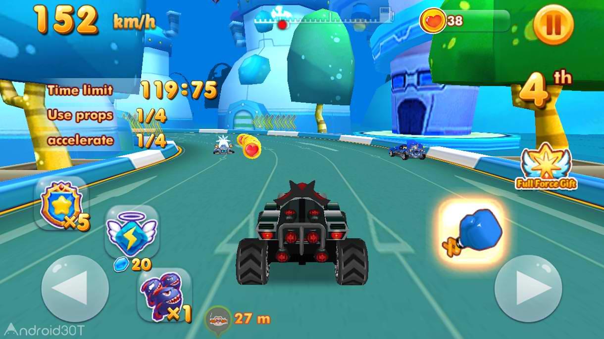 دانلود 1.0 Super Sonic Kart Racing – بازی مسابقه فوق العاده اندروید