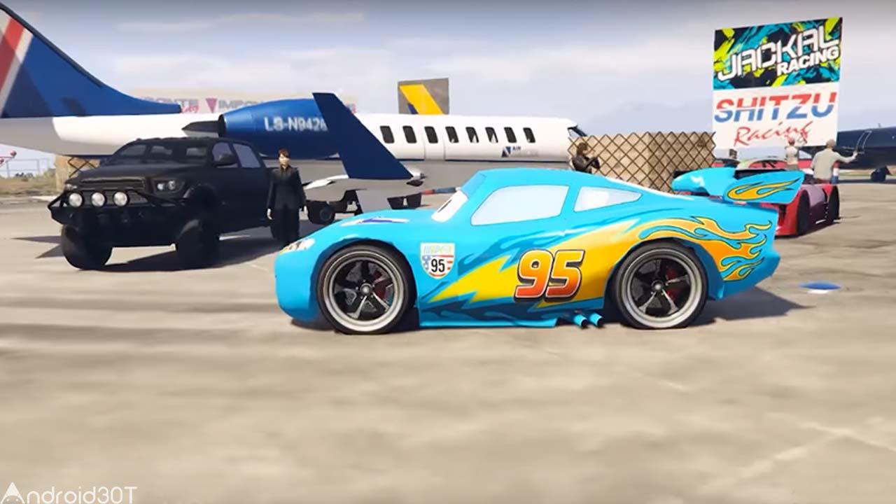 دانلود Superheroes Car Stunt Racing Games 1.0 – بازی هیجان انگیز مک کویین اندروید