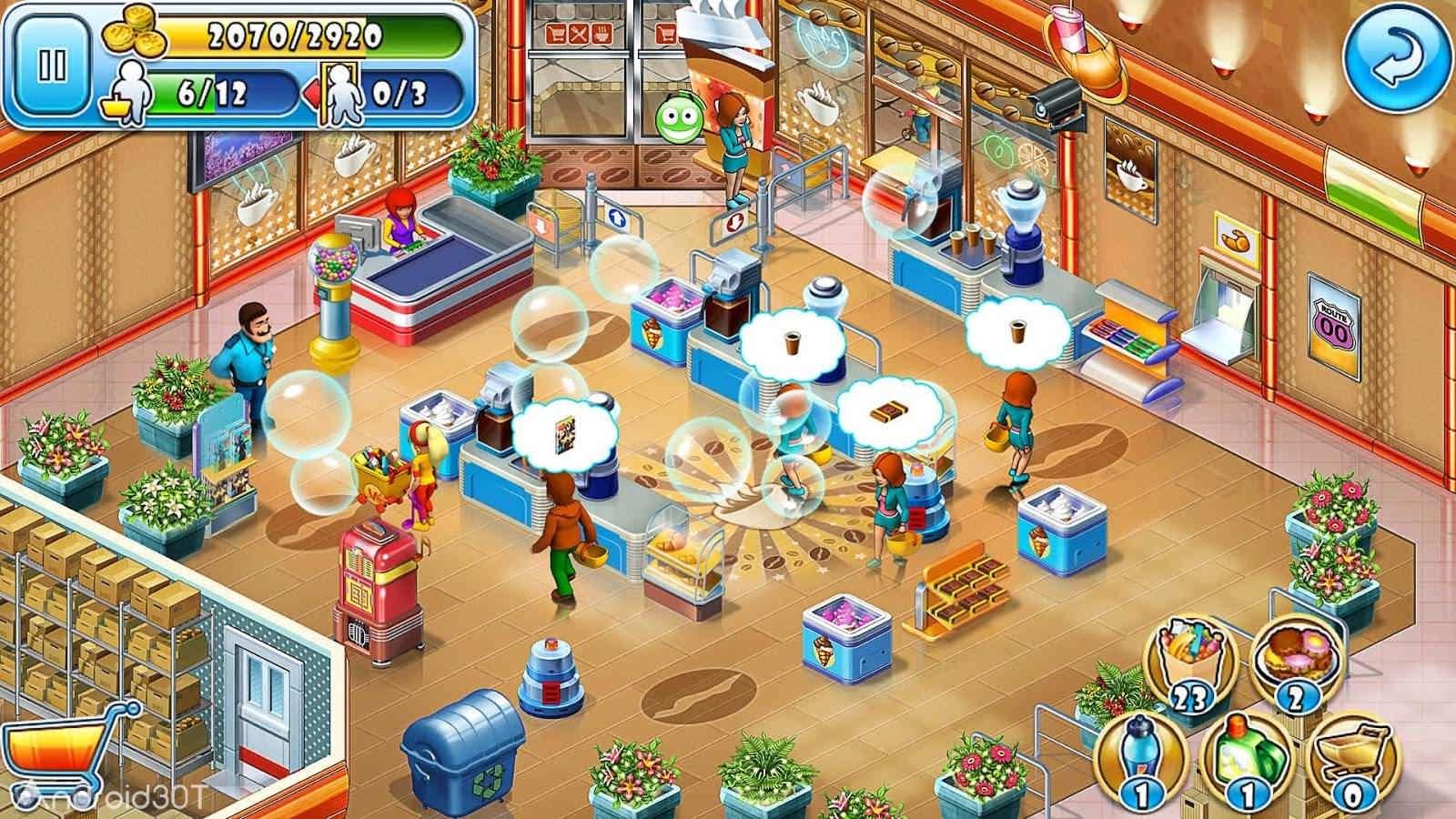 دانلود Supermarket Mania® Journey 3.9.1006 – بازی مدیریتی سوپرمارکت اندروید