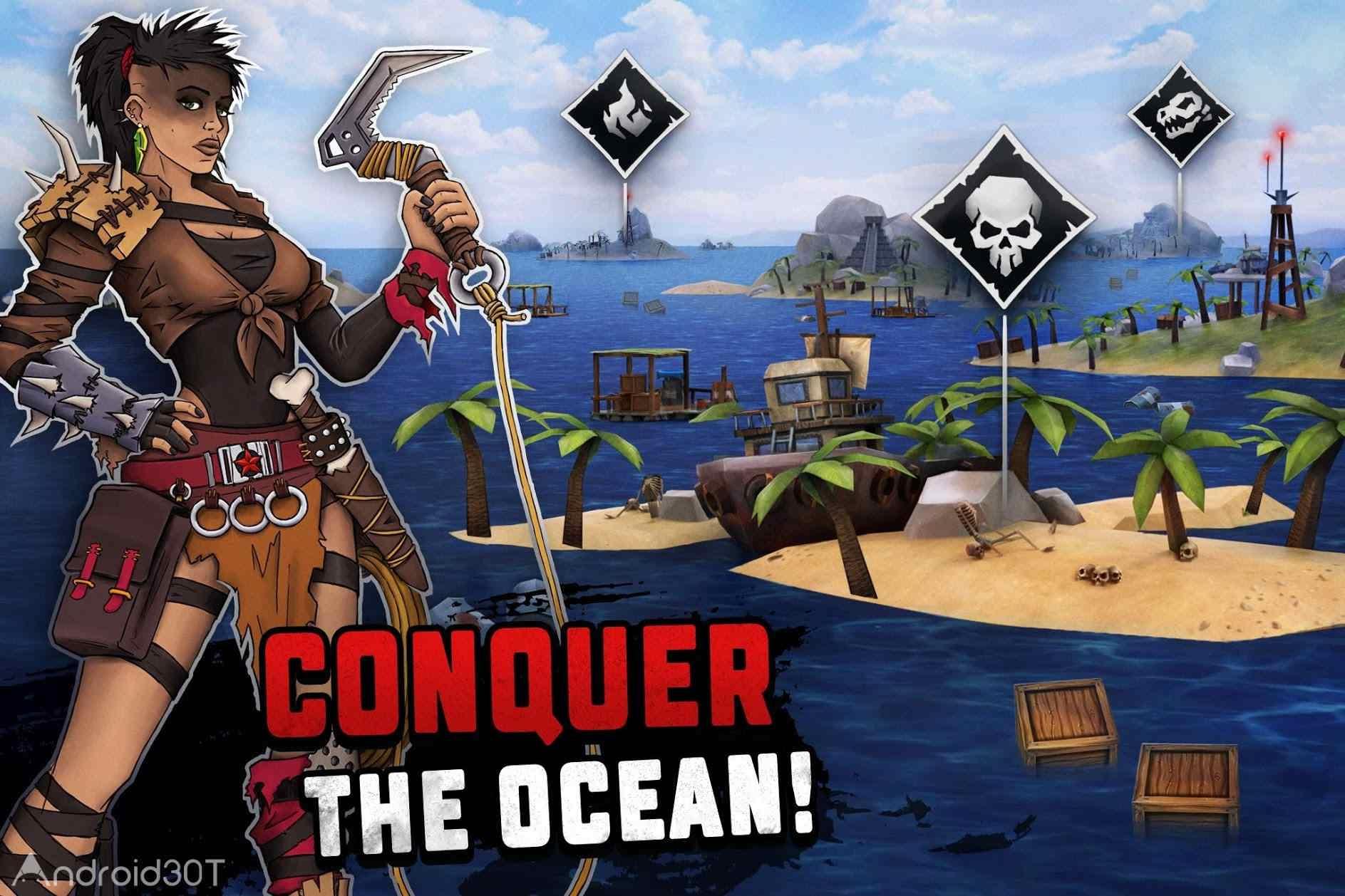 دانلود Survival on Raft: Ocean Nomad – Simulator 1.188 – بازی حفظ بقاء در اقیانوس اندروید