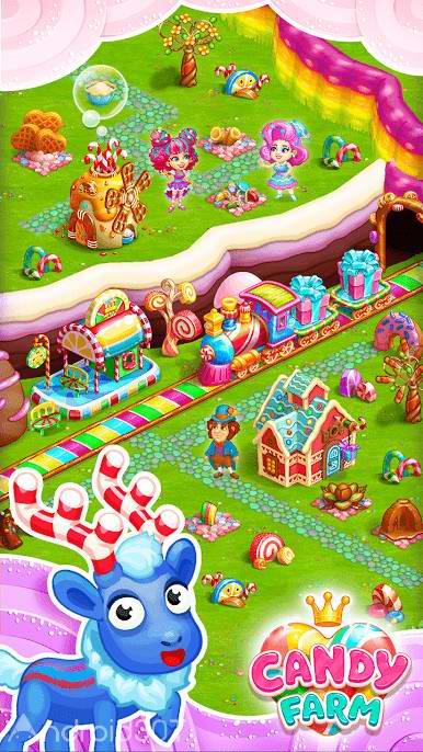 دانلود 1.22 Sweet Candy Farm with magic Bubbles – بازی سرگرم کننده اندروید