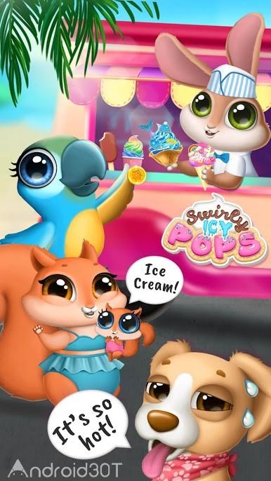 دانلود Swirly Icy Pops Surprise DIY Ice Cream Shop 2.0.6 – بازی فروشگاه بستنی سازی اندروید