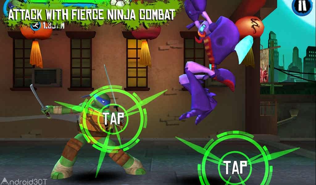 دانلود TMNT: ROOFTOP RUN 2.0.23 – بازی لاک پشت های نینجا اندروید