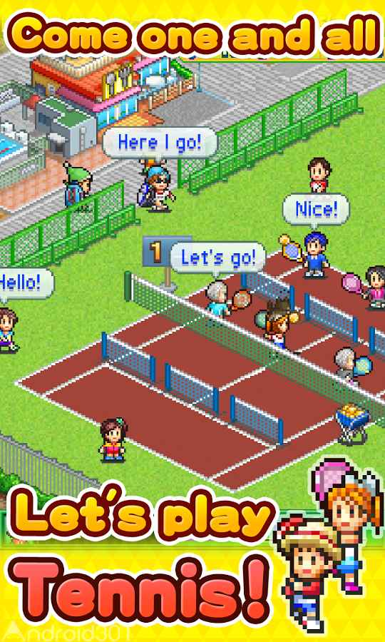 دانلود Tennis Club Story 2.0.0 – بازی سرگرم کننده باشگاه تنیس اندروید