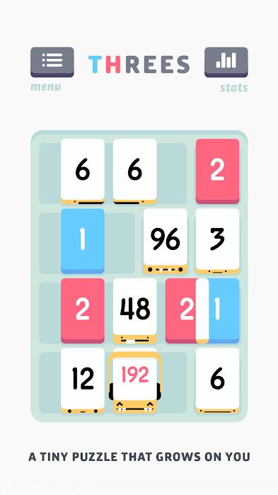 دانلود Threes 1.3.6 – بازی فکری جمع کردن اعداد اندروید
