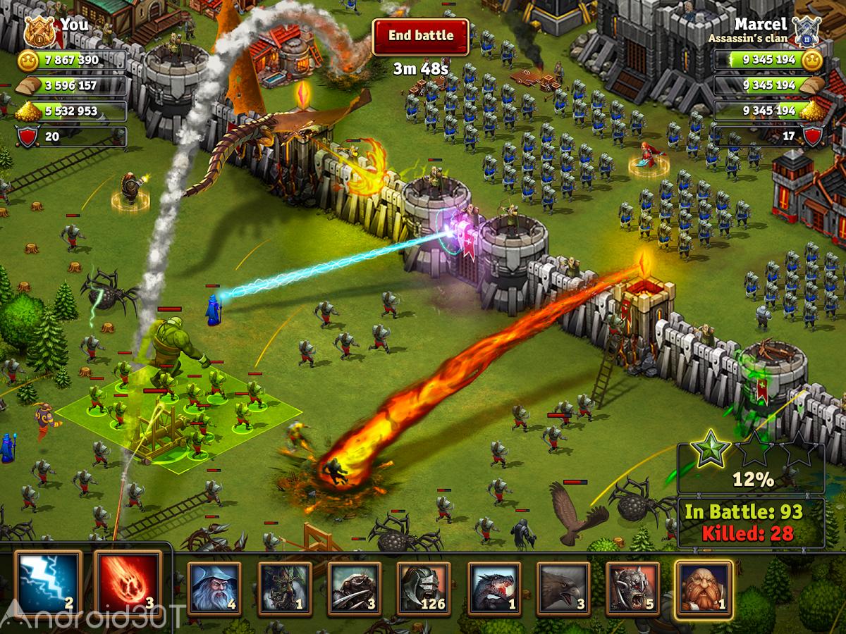دانلود Throne Rush 5.26.0 – بازی یورش به تاج و تخت اندروید