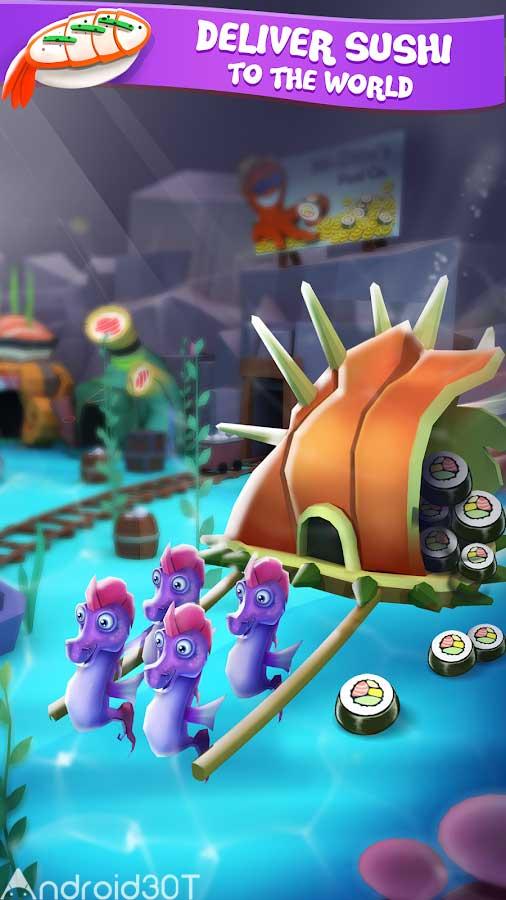 دانلود Tiny Sharks Idle Clicker 2.2.4 – بازی جالب کوسه های کوچک اندروید