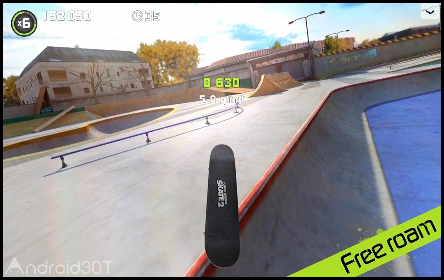 دانلود Touchgrind Skate 2 1.48- بازی اسکیت سواری لمسی ۲ اندروید