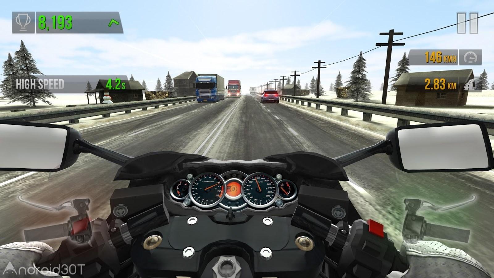 دانلود Traffic Rider 1.70 – بازی فوق العاده موتور سواری در ترافیک اندروید