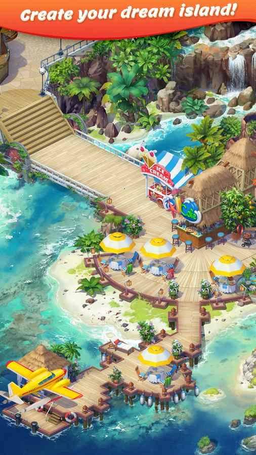 دانلود Tropical Forest: Match 3 Story 2.14.1 – بازی شبیه سازی ساخت جزیره اندروید
